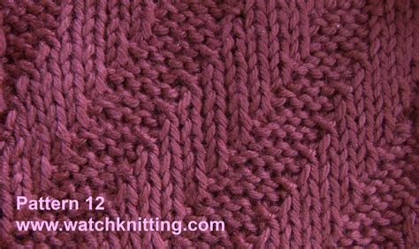 and knit stitches knitting models pattern 12 tilt stripes