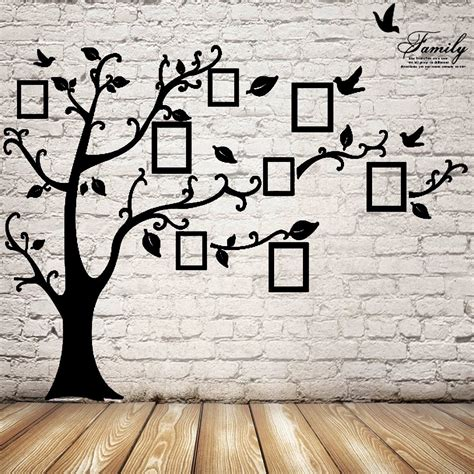 photo wall stickers 2 5m removable memory tree picture frames wallpaper photo