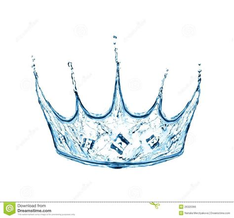 what are water made of crown made from water splash royalty free stock image