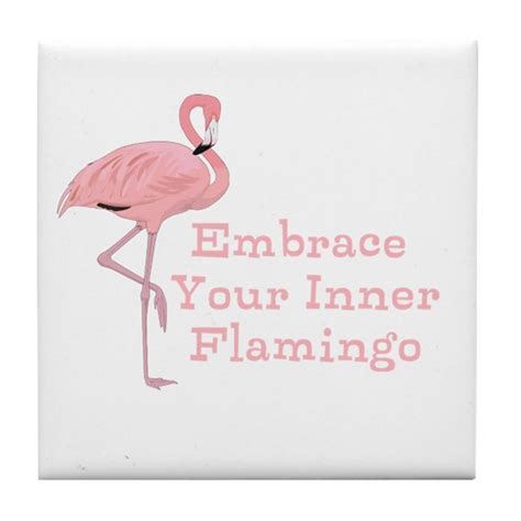 Australian Wall Stickers funny embrace your inner flamingo quote tile coast by
