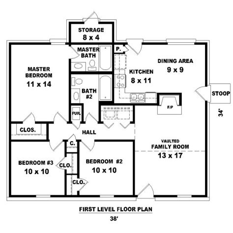 3 bedroom house plans and designs 1112 square 3 bedrooms 2 batrooms on 1 levels