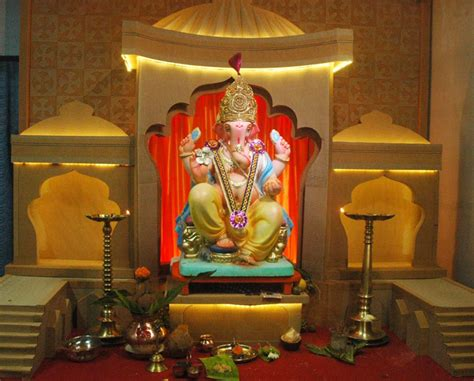 home decorations for ganpati decoration ideas for home the royale