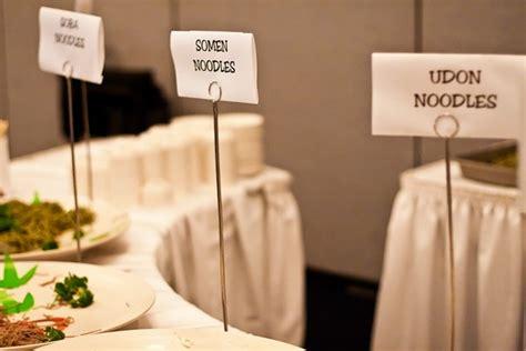 buffet food signs sewn together bad signs for food weddingbee