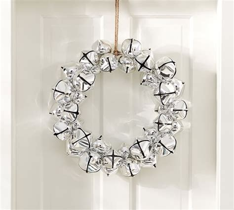 jingle bell wreath jingle bell wreath pottery barn