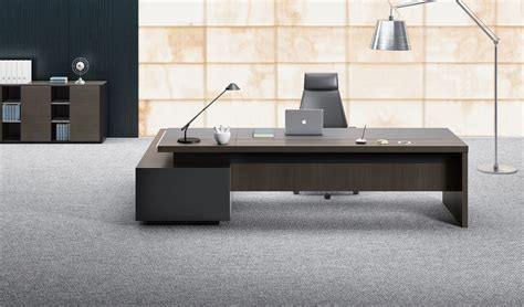 office table designs stylish larry office table in wood leather s cabin