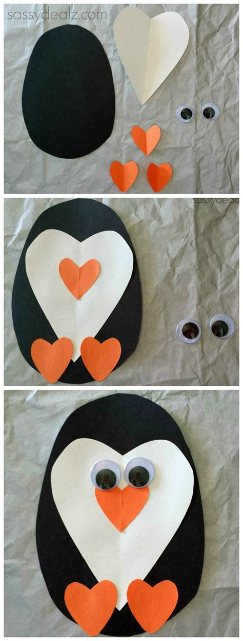 penguin paper craft paper penguin craft for winter for and