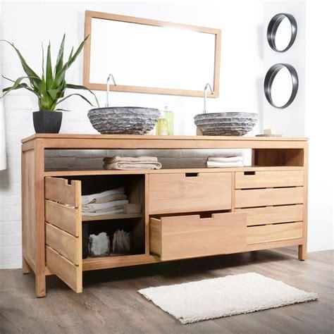 meuble salle de bain bois exotique pas cher salle de bain id 233 es de d 233 coration de maison