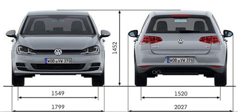 Volkswagen Golf Dimensions by Vw Golf Mk7 Sizes And Dimensions Guide Carwow