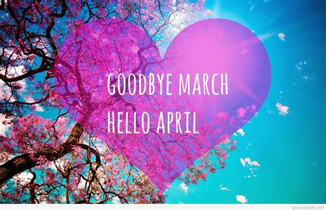 for march hello april images