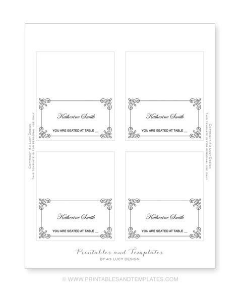 how to make place cards on microsoft word place cards template lisamaurodesign