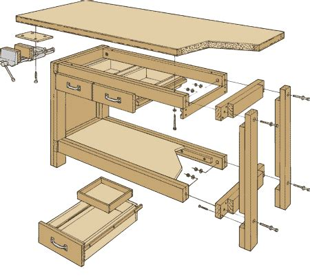 woodworking pdf 9 highly detailed work bench plans