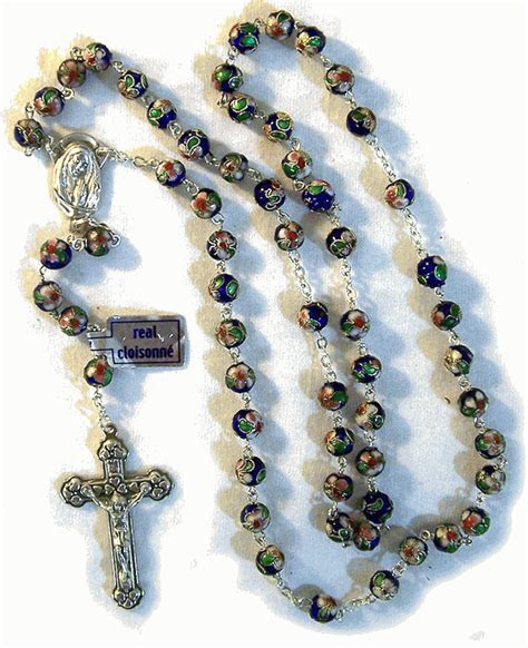 rosary vatican real cloisonne rosary from italy with free vatican
