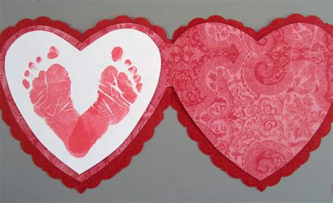 valentines day craft preschool crafts for s day footprint card