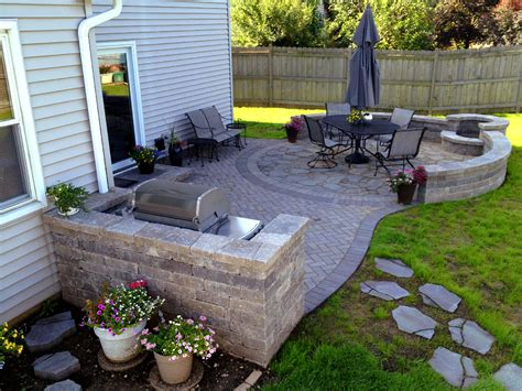 paver patio with pit designing your patio elegance meets functionality