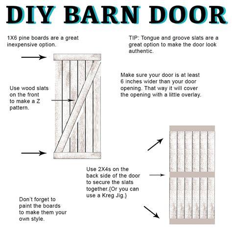how to make a barn door for inside diy barn door and hardware
