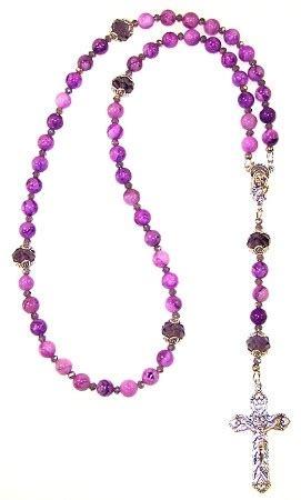 rosary bead kits purple lace beaded rosary kit