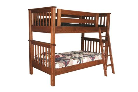 amish bunk beds amish miller s mission bunk bed