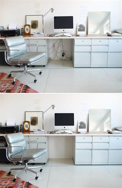 hide computer wires desk how to disappear power and electronics cords