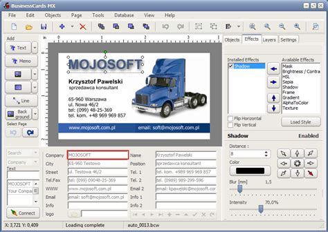 software for business cards mojosoft software for design and print high quality