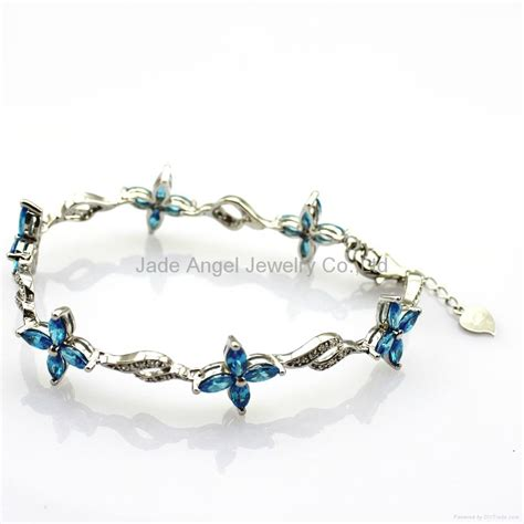 how to make sterling silver jewelry at home sterling silver jewelry blue topaz cubic zircon bracelet