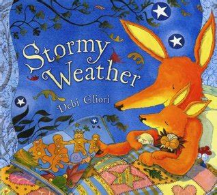 weather picture books library shelf