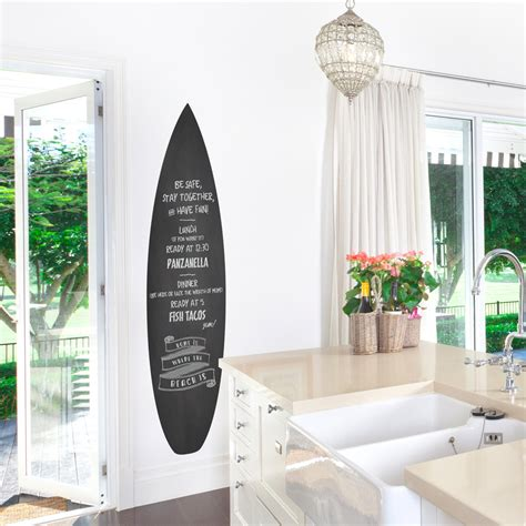 surf wall stickers surfboard chalkboard wall decal