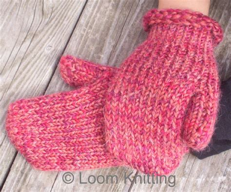 loom knit mittens loom knitting mittens pattern available