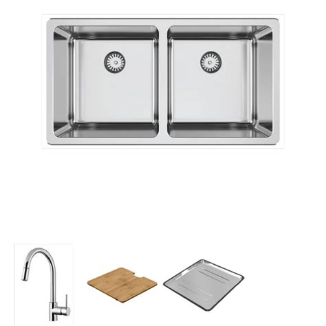 kitchen sink tapware lago 200 package with pull out mixer abey australia