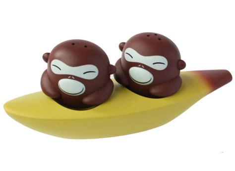 Alessi Banana Brothers Salt and Pepper Shakers
