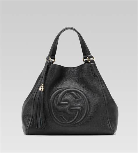 black leather the shoulder bag gucci black leather soho medium shoulder bag all handbag fashion