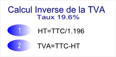 calcul inverse tva 19 6