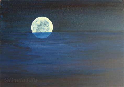 acrylic painting mystical moons planet moon originals elemental mystical moon