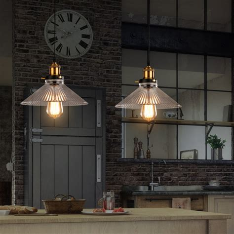 rustic kitchen pendant lights aliexpress buy glass pendant light for home black