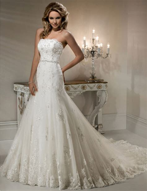 lace beaded wedding dress new mermaid bridal gowns beaded strapless