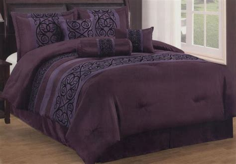 king size purple comforter sets 7 pieces king size contemporary floral comforter set