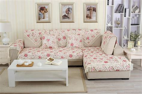 floral sofa slipcovers european style floral print sofa cover 100 cotton lace