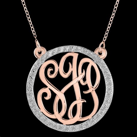 how to make monogram jewelry personalized monogram necklace with cubic zirconia