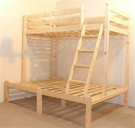 strictly bunk beds duchess 4ft 6 heavy duty solid pine sleeper