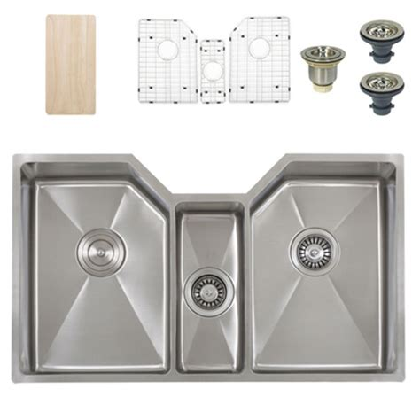 kitchen sink accesories ticor tr1500 undermount stainless bowl square