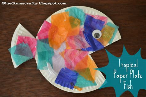 craft paper plate tropical paper plate fish craft glued to my crafts