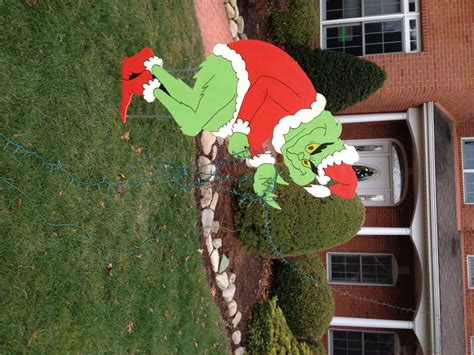 yard lights decorations grinch stealing lights yard decoration by