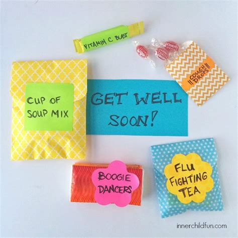 make your own get well soon card diy get well soon package inner child