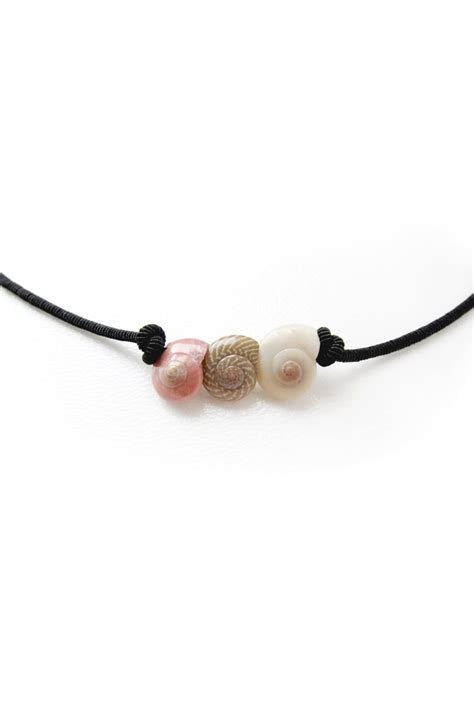 how to make beaded necklaces with string seashell necklace seashell choker sea shell black string