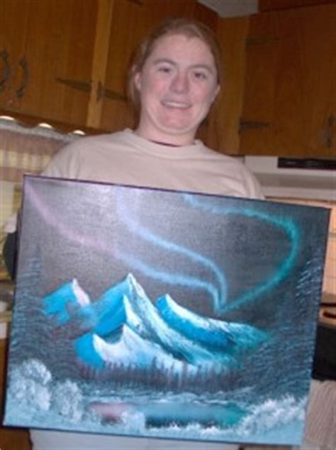 bob ross northern lights painting for sale class photos