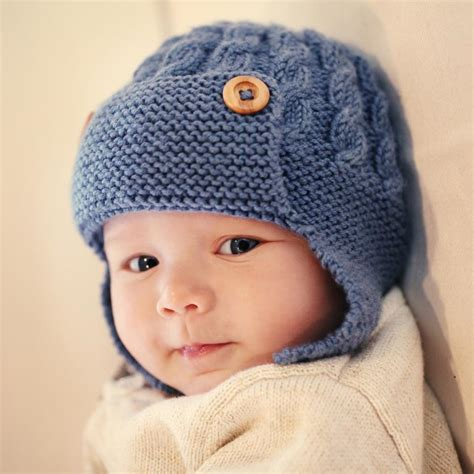 baby hats to knit photo of cabled baby aviator hat dayton knitting pattern