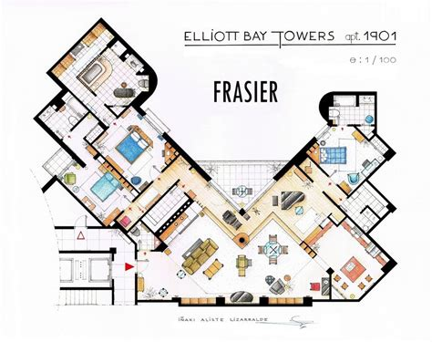 blueprints house floor plans of homes from tv shows