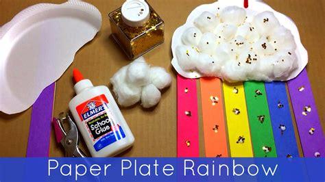 craft work for kindergarten paper plate rainbow preschool and kindergarten craft