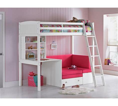 high sofa bed buy home classic high sleeper bed frame fuchsia sofa bed