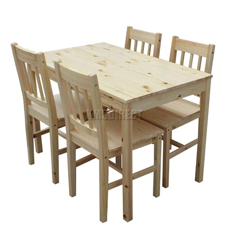 kitchen dining table and chairs foxhunter quality solid wooden dining table and 4 chairs