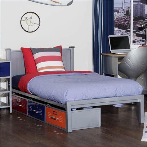 locker room bedroom furniture locker size bed with 3 drawers elite 35 6701 997